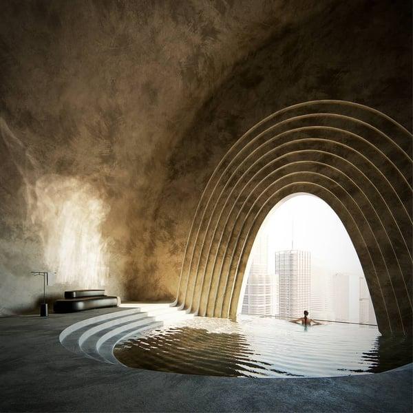conceptual 3D render by architect & 3D artist Javier Valero