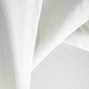 Aten Aditya FR dim out drapery fabric in ' Pristine'  with herringbone pattern