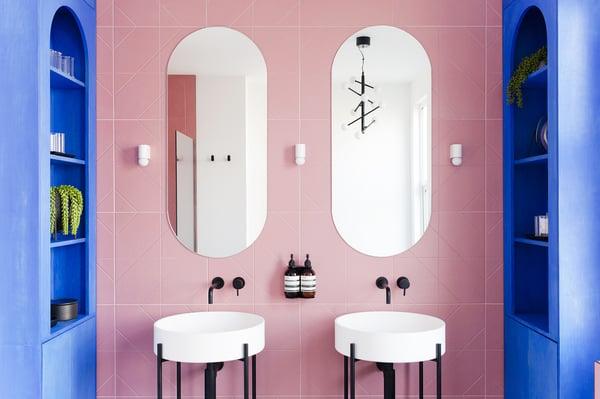 Hither Green 2LG studio colourful deco bathroom