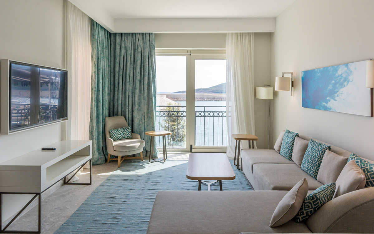 The Chedi Lustica Bay with fire retardant drapery fabrics