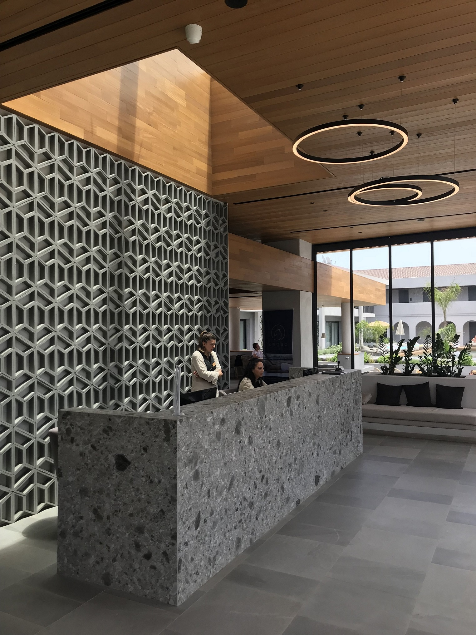 contessina suites and spa beautiful lobby interior