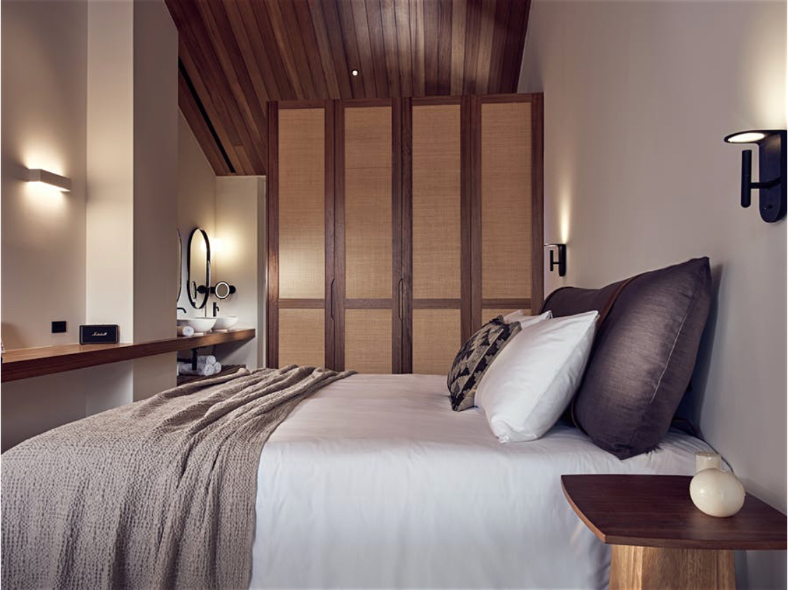 contessina suites and spa bedroom interior with fr fabrics