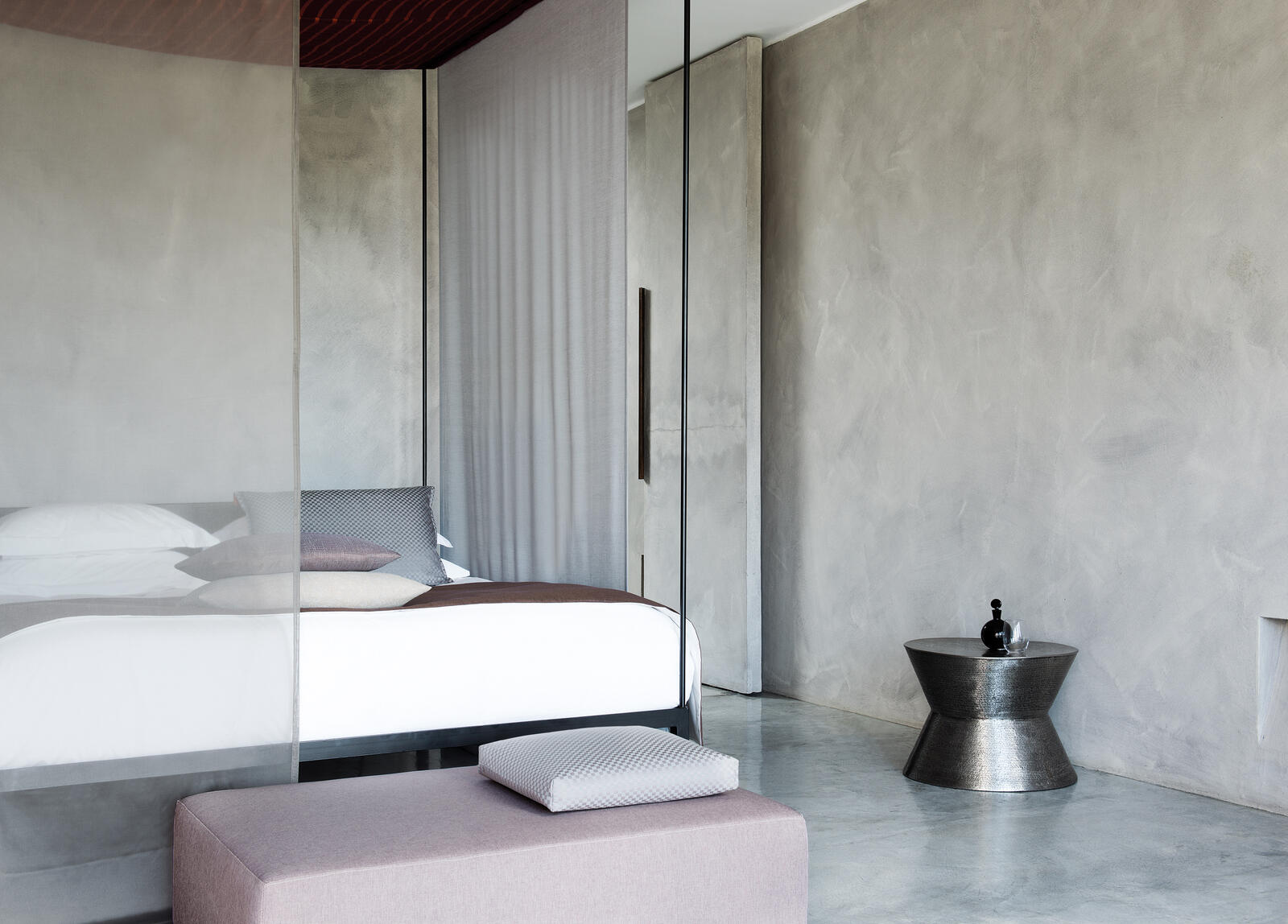 fr sheer curtain fabric in a minimalist bedroom_offa and gossy collection