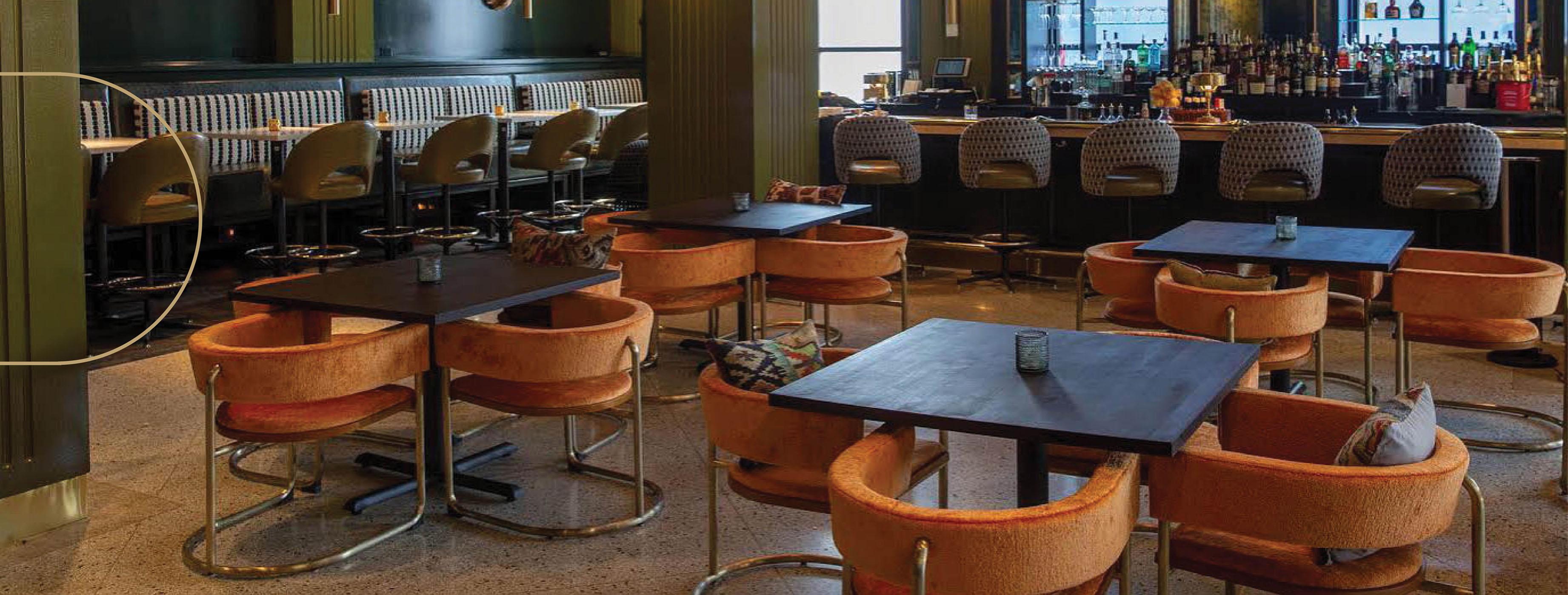 FR-One fabrics at The Treasury cocktail bar